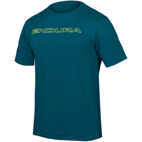 Endura One Clan Carbon T-Shirt Heren, king fisher
